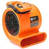 CFM Pro Air Mover Carpet Floor Dryer 2 Speed 1/2 HP Blower Fan - Orange - Industrial Water Flood Damage Restoration