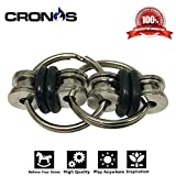 Flippy Chain - Noah Fidget - Quiet Silent Fidget Toy Stress Reducer - Perfect For ADD, ADHD, Anxiety, Autism, and Boredom all at your Finger Tips - BONUS Exclusive CronosGear Focus System eBook
