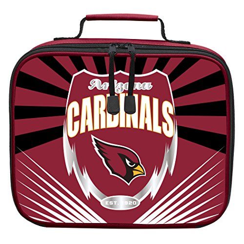 The Northwest Company Officially Licensed NFL Arizona Cardinals Lightning Kids Lunch Kit, Red