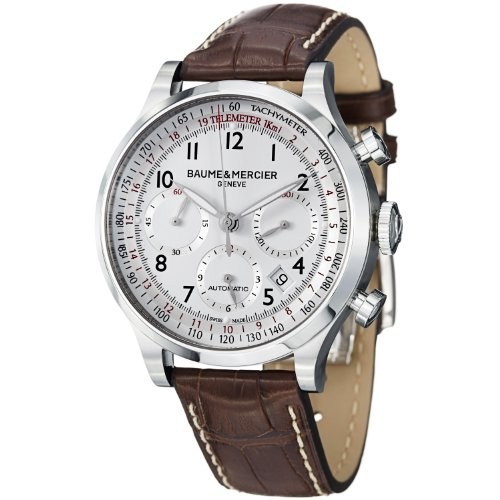 Baume-and-Mercier-Capeland-White-Dial-Chronograph-Mens-Watch-10082