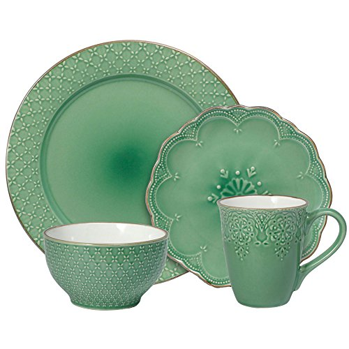 Pfaltzgraff French Lace Green Dinnerware Set, 32-piece
