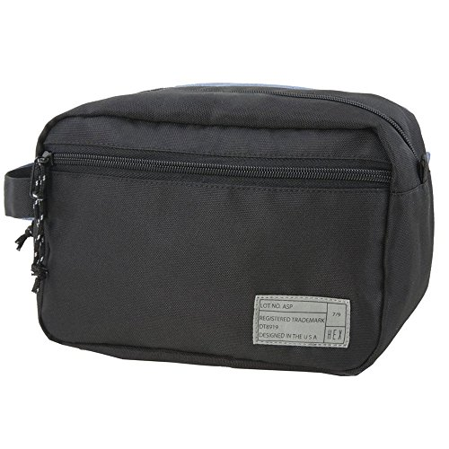 HEX Unisex Dopp Kits Aspect Black Luggage (Hex Accessory Kit)