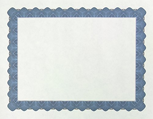 Great Papers! Metallic Blue Certificate, 8.5 x 11 Inches, 25 Count (934425)