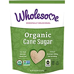 Wholesome Sweeteners Organic Fair Trade Sugar, 10 pound