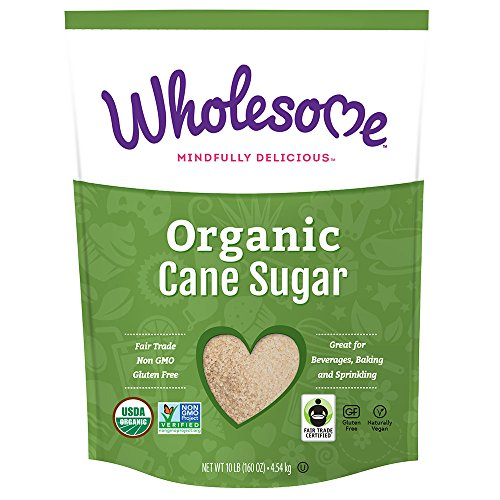 Wholesome Organic Cane Sugar, Fair Trade, Non GMO, 10 LB, single unit