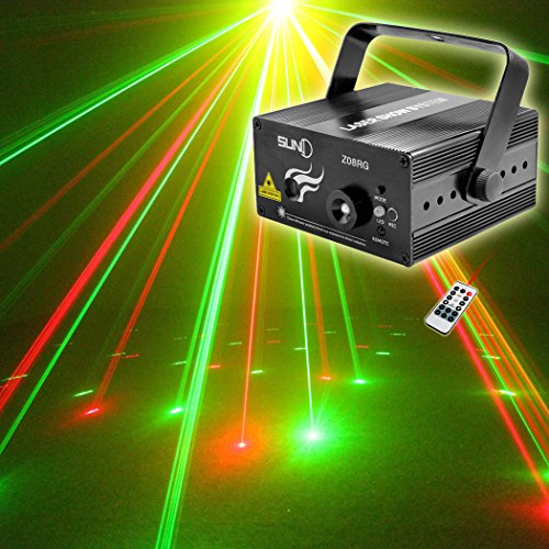 SUNY Red Green Laser Blue LED 8 Gobos Effect Professional...