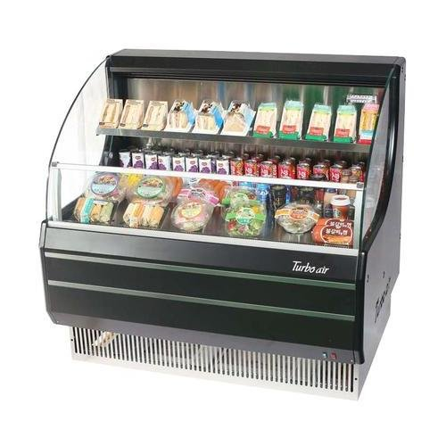 TOM40LBSPA 39 Low Profile Display Merchandiser with Environmental Friendly Refrigeration System Solid Side Panel Standard Back-Guard and Anti-Rust Coating: Black Ext. and Int.