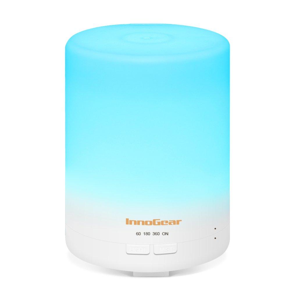 InnoGear 300ml Diffusore di Oli Essenziali Portatili Diffusori di Aromaterapia ad Ultrasuoni con Colore del LED che Cambiano le Luci e le Auto Senz'acqua fuori Dalla Funzione