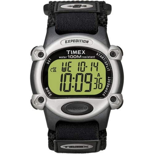 Timex Expedition Mens Chrono Alarm Timer Silver/Black ()