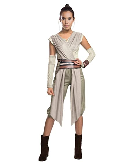 Horror-Shop Star Wars 7 Costume Rey Women Deluxe 4 Piece Overall Sash Belt  Bag Arm Warmers Nature Grey  Amazon.co.uk  Clothing f22797a16c