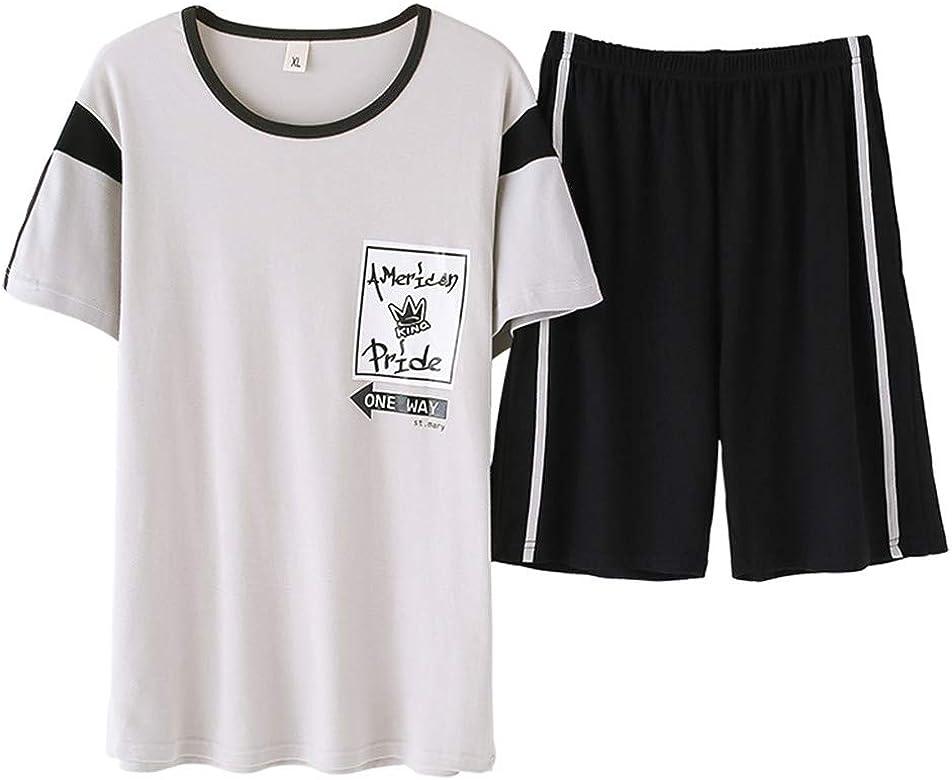 Pijama Hombre Verano Corto de 100% Algodón Pijamas de Hombre Verano con Pantalón Servicio a Domicilio Ocasional, 4, XXXL: Amazon.es: Ropa y accesorios