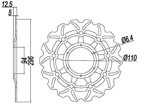 Areyourshop Front Brake Disc Rotor For Honda Cbr 600 F4i Sport Cb