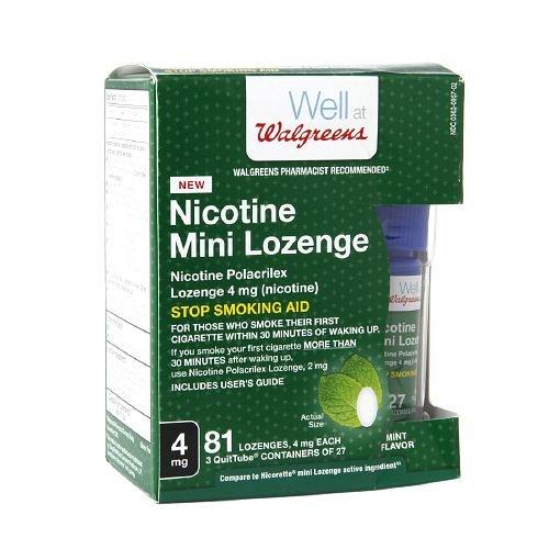 Walgreens Nicotine 4MG Mint Mini-Lozenges 81 (Prescription Nicotine Patch)