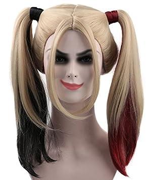 Peluca de Harley Quinn – Elegante disfraz para Halloween, para dama HD-1015