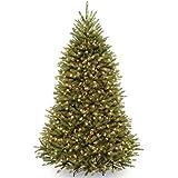 National Tree 7 1/2-Feet Dunhill Fir Tree, Hinged, 750 Clear Lights (DUH-75LO)