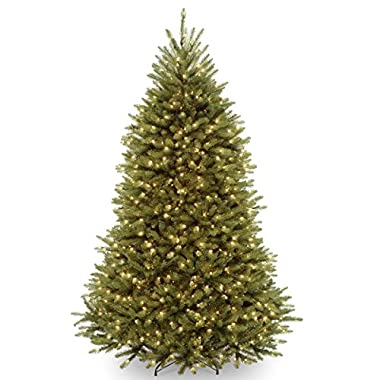 National Tree 7 1/2-Feet Dunhill Fir Tree, Hinged, 750 Clear Lights (DUH-75LO)