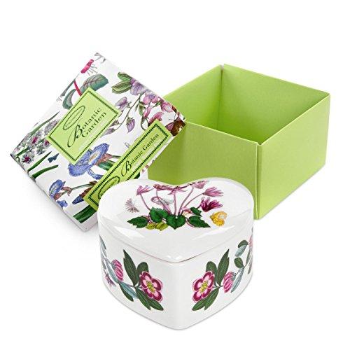 Botanic Garden Heart Trinket Box, Porcelain, Multi-Colour, 9.5 x 9 x 4.5 cm