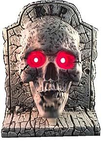 Halloween Interactive Talk-thru Mr Jones Bones Talking Skull on Tombstone