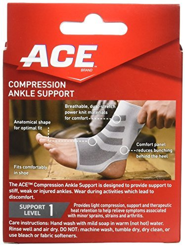 Ace Ankle Brace - ACE Knitted Ankle Support, Small (Pack of 2)