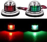 Obcursco LED Navigation Lights Deck Mount, New Marine Sailing Lights for Bow Side,Port, Starboard, Pontoons, C