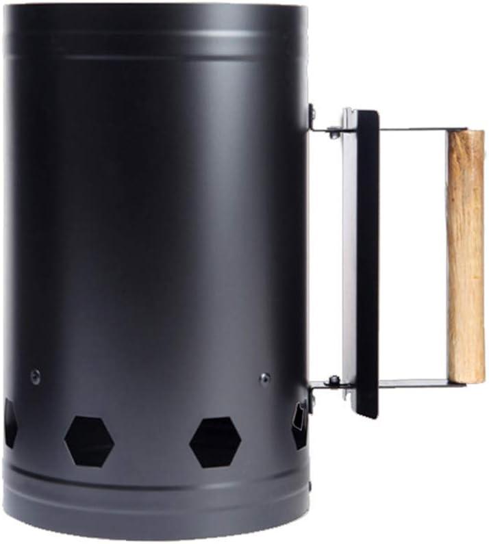 Al aire libre barbacoa portátil para acampar chimenea de carbón accesorios para herramientas barril de barbacoa acampar barbacoa más ligero barril,Negro