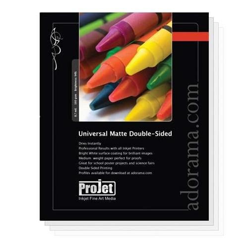 (Projet Universal Double-Sided Matte Inkjet Paper, 8.5 mil., 165 GSM, 11x14
