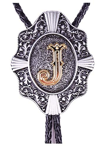 Bolla Pendant Lighting - KeCol Adult Mens Aalphabet Letter Bolo Tie Necktie Necklace Letter J