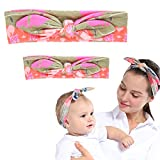 A Couple Of Parent-Child Headband Is Soft Breathable (Shallow coffee)