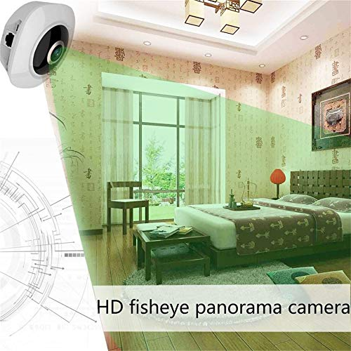 E.I.H. WiFi Panoramic Camera 360 Degree VR 3D Wireless WiFi Wide Angle HD Panoramic Camera 960P-130 Megapixel Indoor Camera Portable