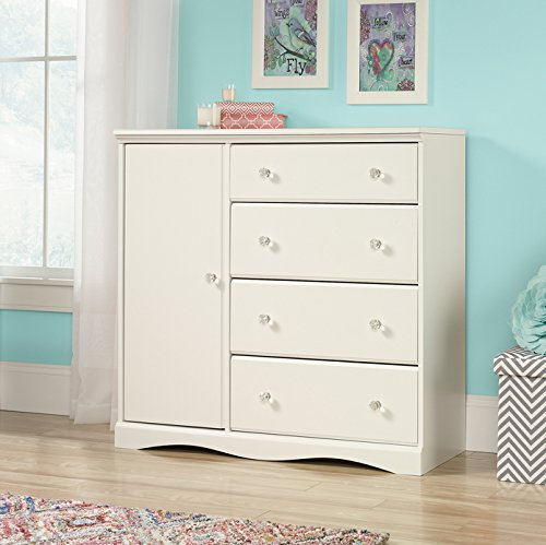 NEW Sauder Furniture 417146 Pogo Bedroom Chifforobe Wardrobe Dresser Soft White