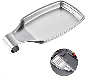 Spoon Rest, Stainless Steel Spatula Ladle Holder for Stove, Spatula Ladle, Brush and Other Cooking Utensils Rest