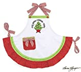 Red & White Ruffled Christmas Tree Apron