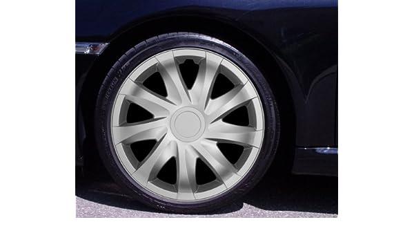 Tapacubos DRACO Plata 16 Pulgadas Peugeot 207 SW CC, 307 Break, 308, 407, 4007, 5008, 806, EXPERT, PARTNER: Amazon.es: Coche y moto