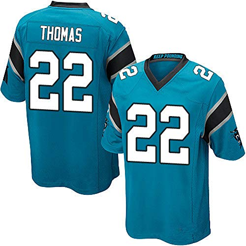 Panthers # 22 McCaffrey Hombres Rugby Jersey, Swingman Edition American Football Jersey Sport Top T-Shirt