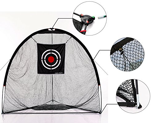 Galileo Golf Nets Golf Practice Net Hitting Netting for Backyard Portable Driving Range Golf Cage Indoor Golf Net Training Aids with Target 8'x7'x7' by Galileo (Image #1)