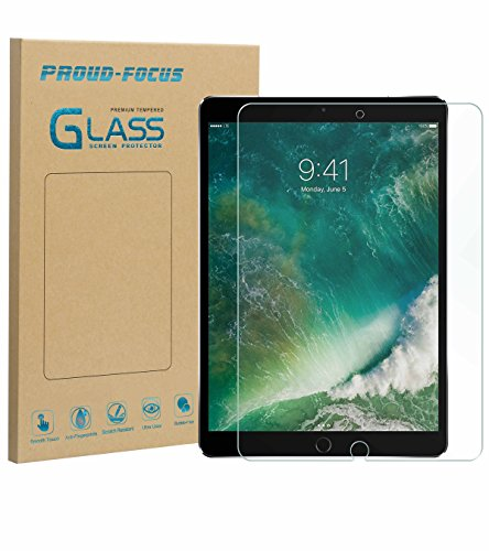 iPad Pro 10.5 Screen Protector Glass, Proud Focus Tempered Glass Screen Protector for Apple iPad Pro 10.5 2017 [Apple Pencil Compatible] [Case Friendly] [2.5D Rounded Edge] [10H Hardness] [Easy Apply] by Proud Focus