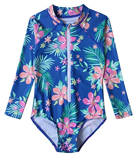 aff5f9eb71 Caracilia Toddler Girl Swimsuit Rashguard Swimwear Long Sleeve One-Piece  T02-XS ZWY03