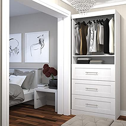 Amazon Bestar Pur By 48inch Storage Unit With 48drawer Set Fascinating Bedroom Closet Cabinets Set Plans