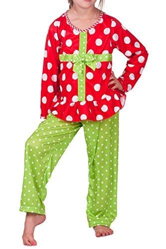 Laura Dare Holiday Wonderland Present PJ, Red Size 2t