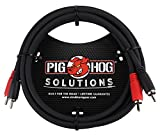 Pig Hog PD-RCA06 Dual RCA (Male) to Dual RCA (Male) Dual Cable, 6 feet