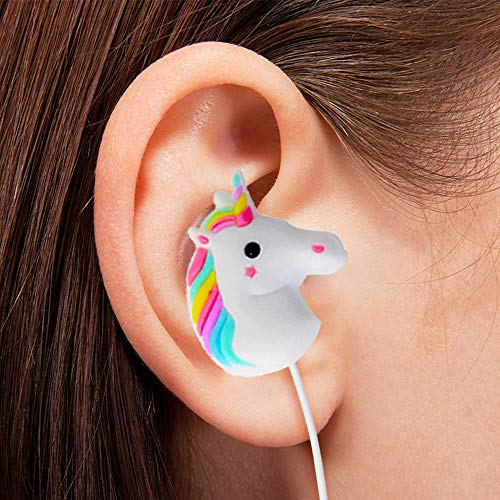 2ca02b87397 Animal Earbuds with Lovely 3D Unicorn Cartoon, Moear in-Ear Headphones  Compatible with Most