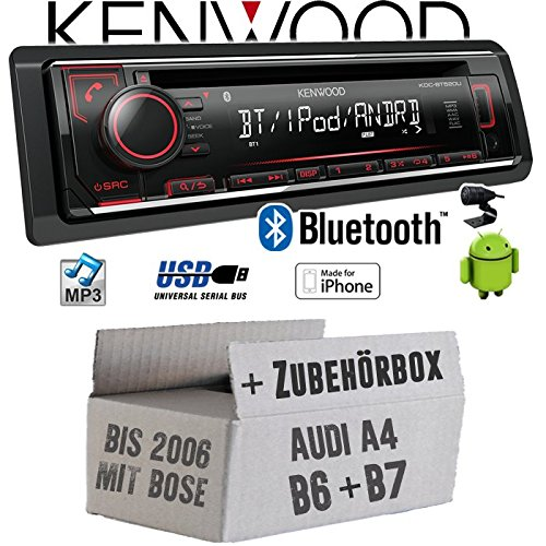 Audi A4 B6 B7 Bose - Autoradio Radio Kenwood KDC-BT520U - Bluetooth CD/MP3/USB - Einbauzubehö r - EINBAUSET JUST SOUND best choice for caraudio AuA4B67B_KDC-BT520U