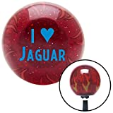American Shifter 237338 Red Flame Metal Flake Shift Knob with M16 x 1.5 Insert (Blue I <3 JAGUAR)