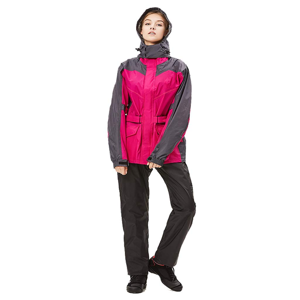 Rose rouge grand ZYMNL-YY Split Rain Suit Pantshole imperméable imperméable imperméable à l'eau de Pluie pour Lady Riding Rain Body imperméable Coupe-Vent