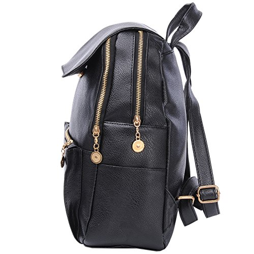 ZSL - Bolso mochila  para mujer negro negro