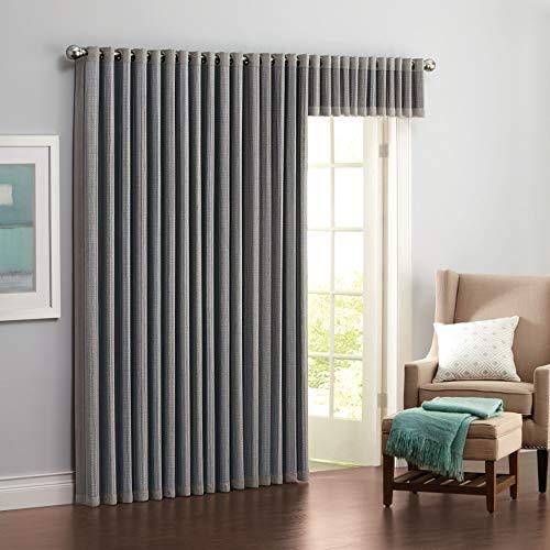 BrylaneHome Bamboo Grommet Panel - Light Gray, 42I W 84I L (Bamboo Drapes)