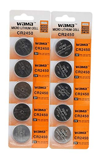 - Wama CR2450 3V Lithium Coin Cell Battery (10 Batteries)