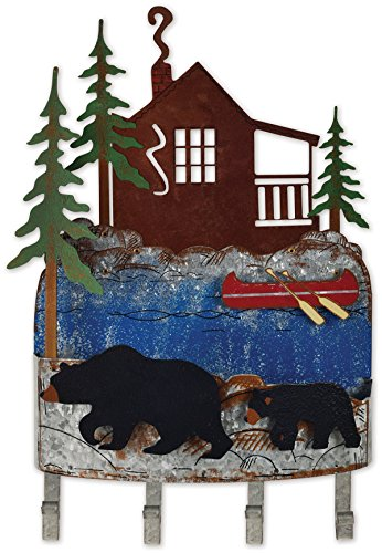 Sunset Vista Designs Woodland Bear Wall Mounted Key Rack Organizer from Sunset Vista Designs