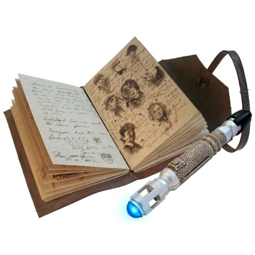Coffret Doctor Who - Le Journal des choses impossibles + Tourvenis Sonique (Stylo + Lampe)