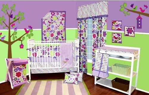 Botanical Purple 9pc Crib Set by Bacati   B008NJX95S
